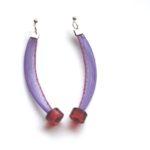 Boucles d'oreilles Tournicotti violet