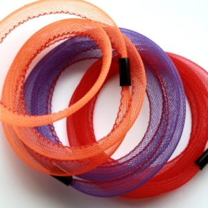 Bracelets Tournicotti orange, violet et rouge